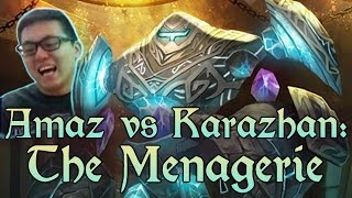 [Hearthstone] AMAZ VS KARAZHAN: The Menagerie (Wing 3, Normal) and Class Challenges