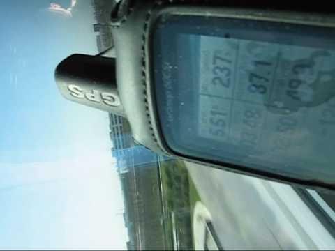 Shanghai Maglev Train clocked by Garmin 60CSx GPS