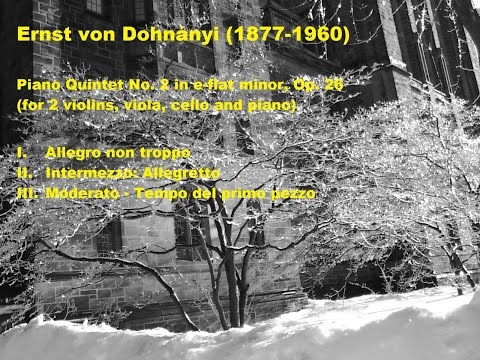 Ernst von Dohnányi Piano Quintet No. 2 in e-flat minor, Op. 26, 1 of 3