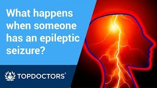 What happens when someone has an epileptic seizure?