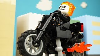 Lego GHOST RIDER & Pizza Delivery & Motocross