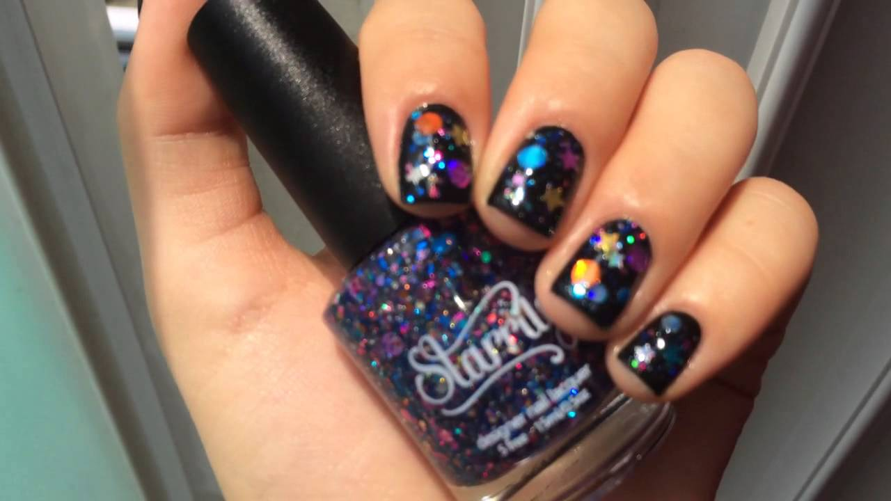Starrily Galaxy, chanel le vernis black satin - YouTube