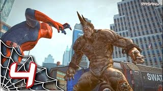 The Amazing Spider-Man (PC) walkthrough part 4 (NYC, Trackers & Rhino)