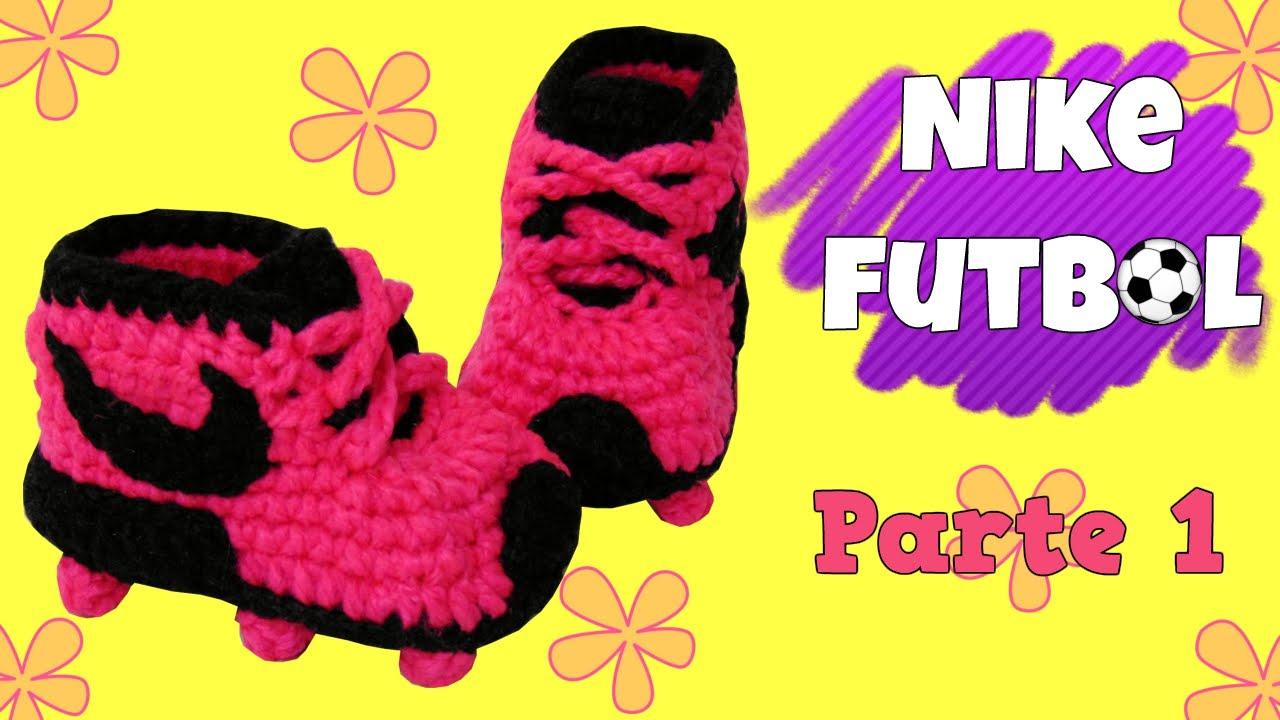 Zapatitos Nike de fútbol tejidos a crochet | parte 12