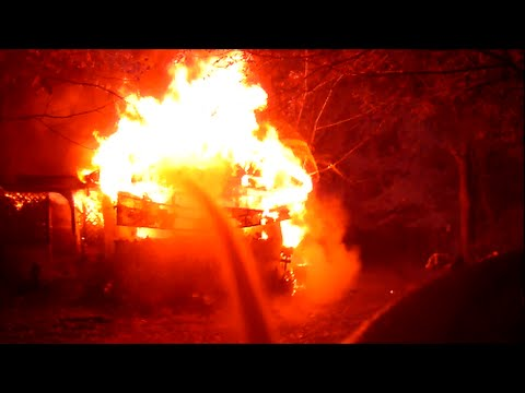 Completely Engulfed Structure Fire Helmet Camera