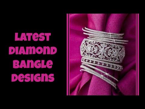 Latest Diamond Bangle Designs 2017