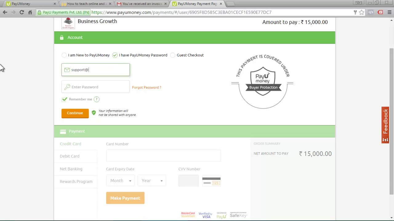 Collect Digital Payments Using Email Invoice Free Payment Gateway - Email for invoice payment