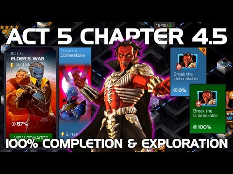 Act 5 Chapter 4.5 100% Completion & Exploration (Mephisto Boss) | Marvel Contest of Champions