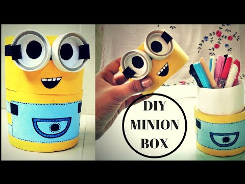 DIY Minion Box   Best out of Waste