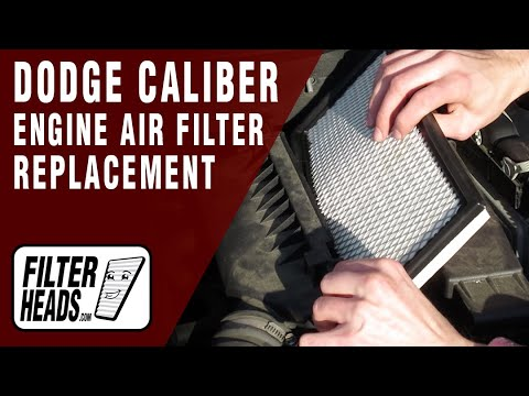 how to replace engine air filter 2007-2010 dodge caliber l4 2 0l