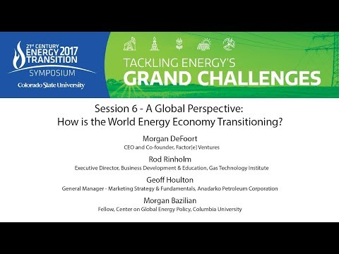 Session 6 - A Global Perspective:  How is the World Energy Economy Transitioning?