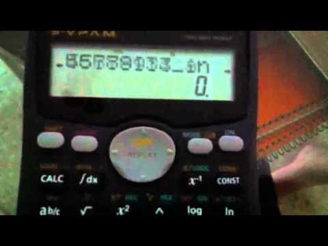 Casio fx-991MS Matrix trick