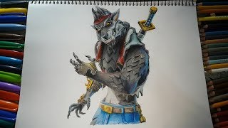HOW TO DRAW LOBUNO SKIN FORTNITE ? HOW TO DRAW WEREWOLF ? MAXI HAIFISCH