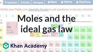 Thermodynamics part 4: Moles and the ideal gas law | Physics | Khan Academy