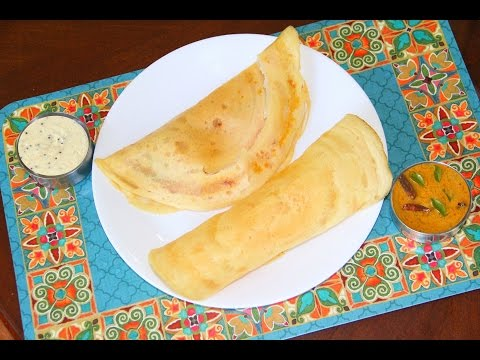 👍How to make Instant Rice Flour Dosa - Indian Rice & Lentil Crepes⭐️⭐️⭐️⭐️⭐️