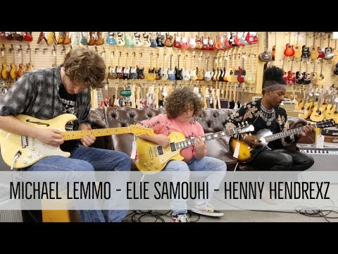 Henny Hendrexz / Elie Samouhi / Michael Lemmo jamming at Norman's Rare Guitars