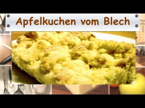 Apfelkuchen Mit Streuseln Vom Blech Einfach Und Fruchtig Youtube