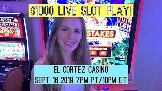 Live Slot Play! $1000 Starting Bankroll!! Sept 16 2019