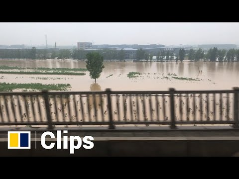 Low-lying areas in China's central province of Henan remain flooded after heavy rains