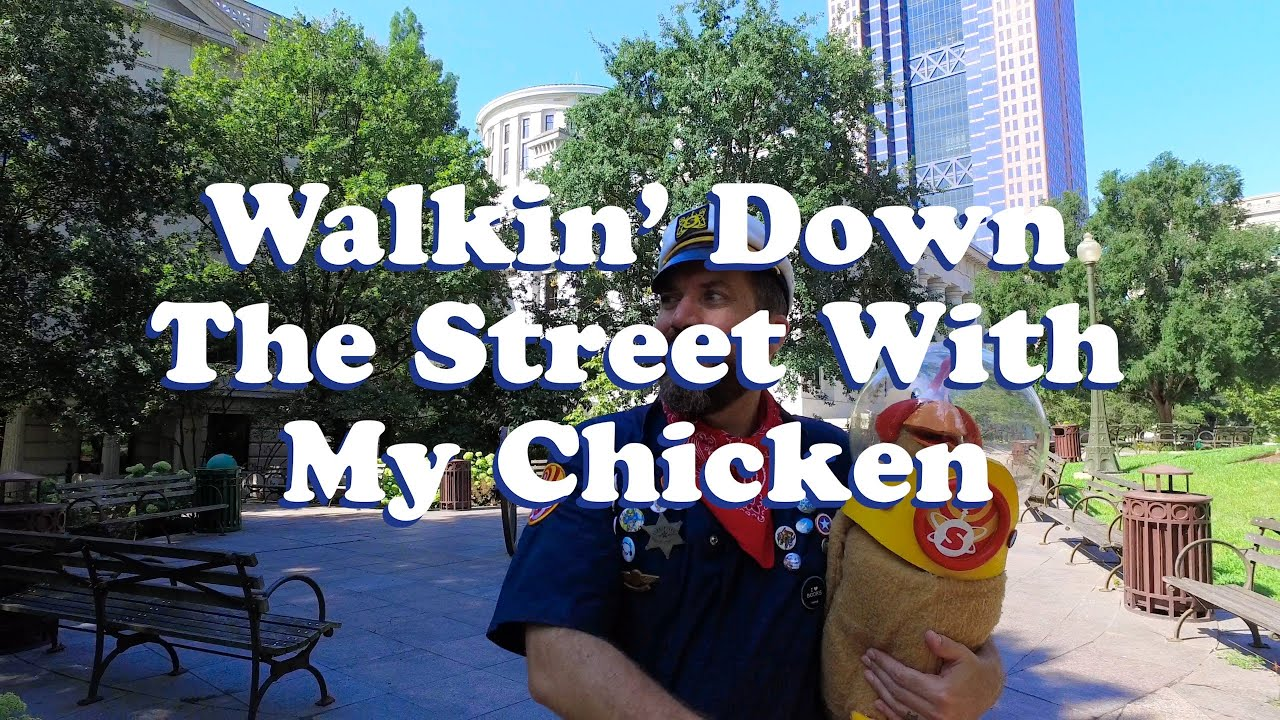 Walking Down The Street With My Chicken - The Shazzbots Official Music Video