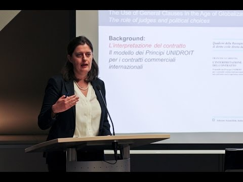 Francesca Caroccia: The Use of General Clauses in the Age of Globalization