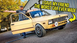 I Surprised My Friend By Giving Him THE WORST CAR EVER MADE (He Was NOT READY)