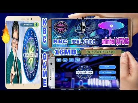 🔵Download [KBC GAME] FREE With Real Voice Unlimited Qutions↩