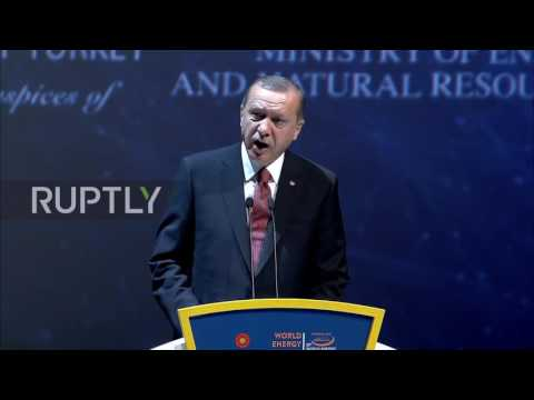 Turkey: Erdogan touts Turkish-Russian gas pipeline at WEC