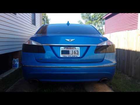 2011 Hyundai Genesis 4.6 V8 borla exhaust