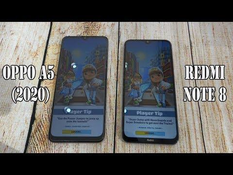 Oppo A5 (2020) Vs Xiaomi Redmi Note 8 | SpeedTest And Camera Comparison
