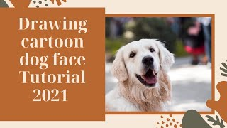 Drawing cartoon dog face Tutorial | How to easily Drawing dogs step by step in pencil