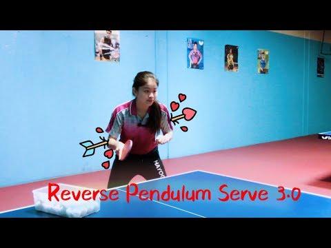 How to Serve Reverse Pendulum (Version 3.0 )--Yangyang's table tennis lessons