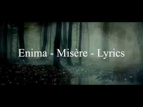 Enima - Misère - Lyrics