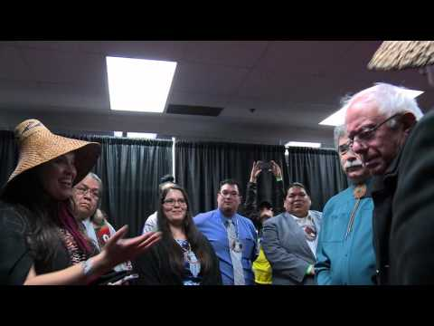 Bernie (Senator dxʷshudičup) meets with Tribal Leaders in Seattle