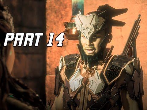 Horizon Zero Dawn Walkthrough Part 14 - Hunter's Lodge (PS4 Pro Let's Play Commentary)
