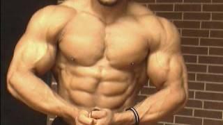 Bodybuilder Jonathan Irizarry posing in Dallas