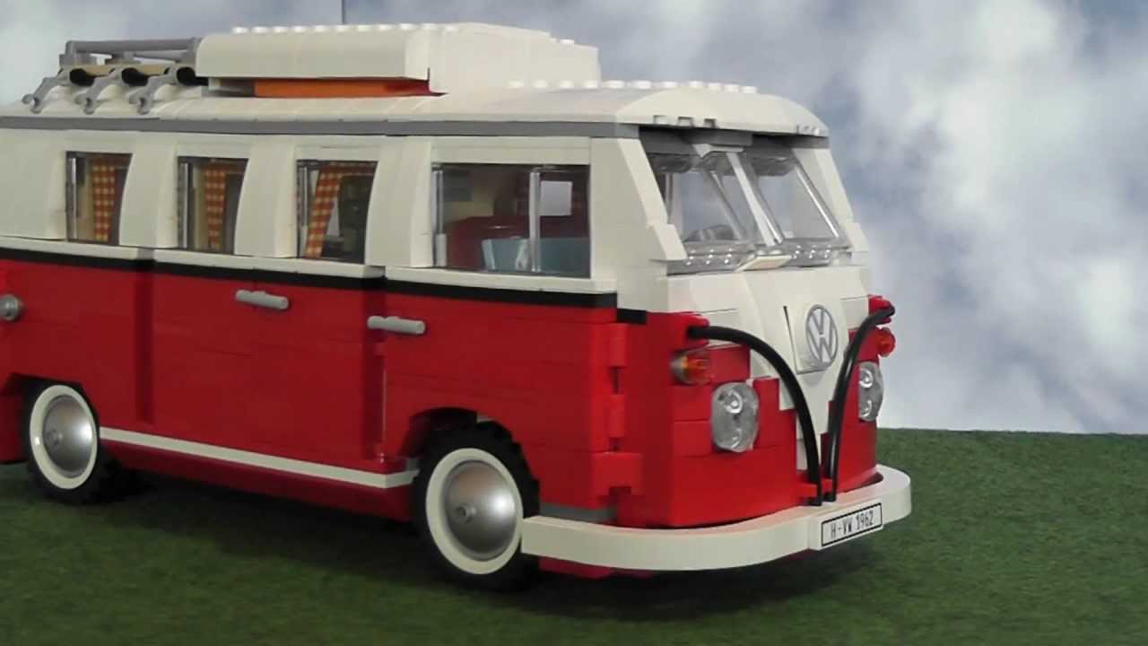 lego volkswagen t1 campingbus bulli 10220 youtube. Black Bedroom Furniture Sets. Home Design Ideas