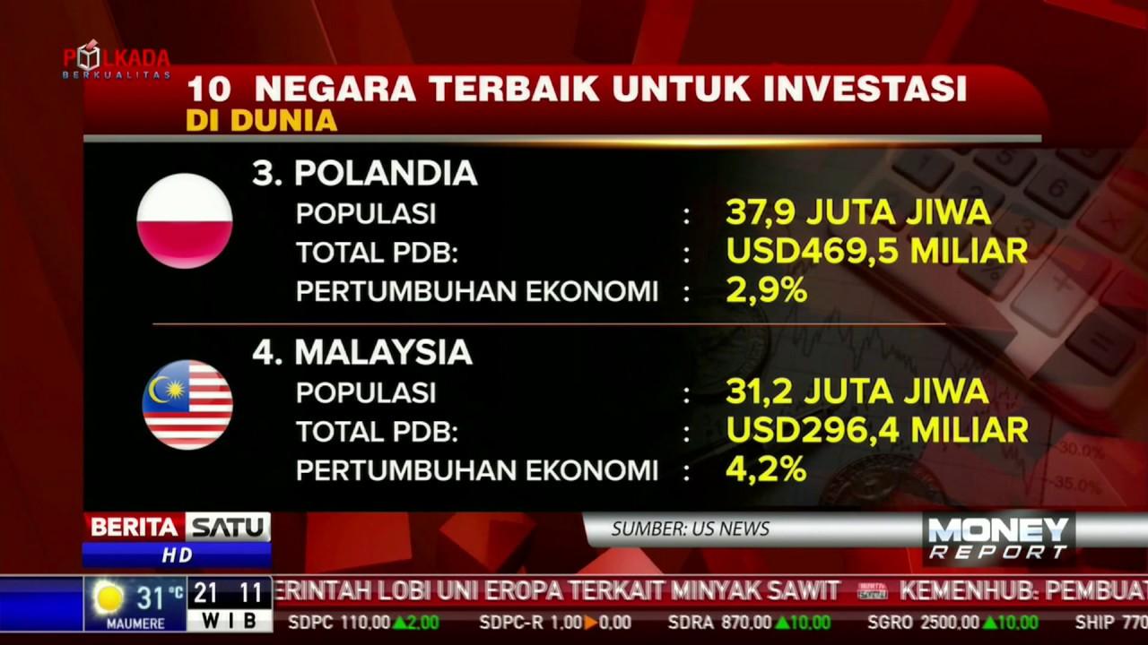 Daftar Negara Terbaik untuk Investasi, Indonesia Masih Termasuk?