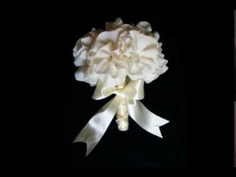 Buchet Mireasa Cu Flori Artificiale Ivory Bridal Bouquet With
