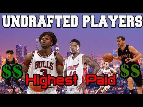 NBA Highest paid UNDRAFTED Players in History / ТОП жирных контрактов незадрафтованных игроков НБА