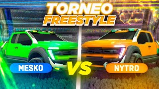 REACCIONANDO AL TORNEO OFICIAL DE FREESTYLE 1vs1 🚀 MESKO VS NYTRO | ROCKET LEAGUE