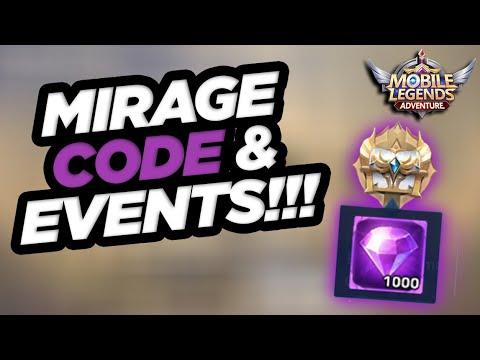 MIRAGE CODE - 1000 Diamonds Plus Current Events in [Mobile Legends: Adventure]
