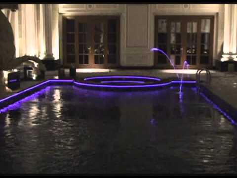 Infico fiber optic lighting jumping water swimming pool for Pool light show waikiki