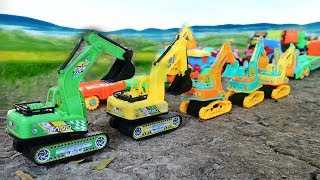 Toys Excavator On Construction Site  | Car Toy | Bruder Toy Truck - Construction Vehicles