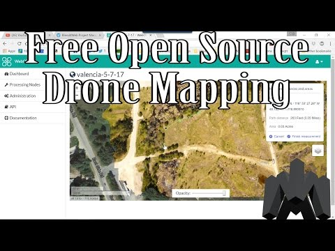 Free Open Source Drone Mapping With OpenDroneMap, WebODM