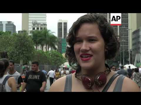 Brazilians react to results of Sunday's vote