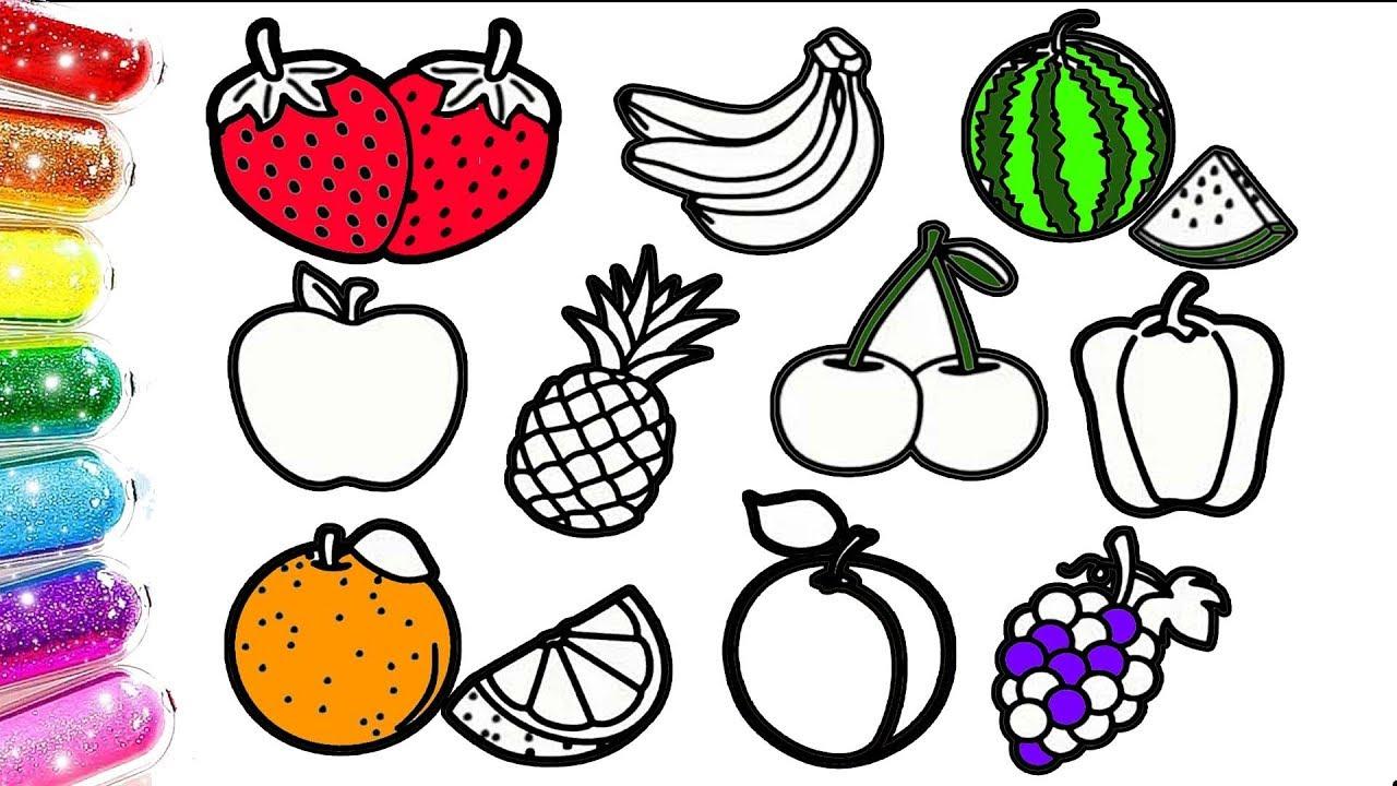 Meyveleri Ogreniyorum Meyveler Boyama Renkli Meyveler Cocuk