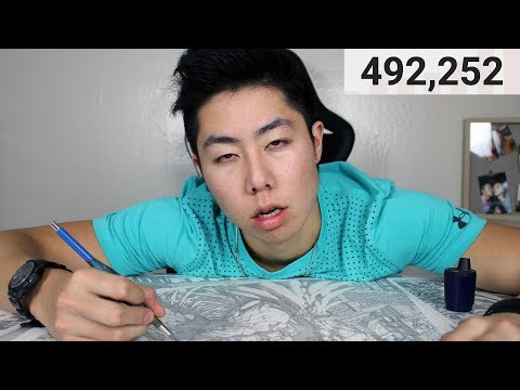 Cant Stop Drawing Until Hitting 500,000 Subscribers Challenge - How Long Will I Be Drawing For?