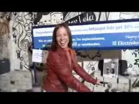 Understand energy saving through pedaling and sweating --  Electrolux BIKE-BLENDER