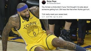 Serious DeMarcus Cousins Quad Injury Leads To INSANE Twitter FIGHT!